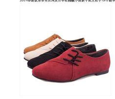 Lace-up shoes Korean version of the retro , flat shoes women flat heel shoes