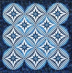 """Something Blue"" quilt pattern by Jacqueline de Jonge 