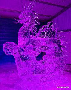 Ice Dragon Ice Sculpture