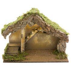 Pesebre verde con luz 39x19x28cm Garden Bridge, Hang, Outdoor Structures, Christmas Manger, Nativity Scenes, Tents, Lights, Green, Architecture