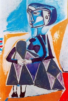 "Pablo Picasso - ""Jacqueline squatting"". 1954"