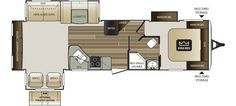 "!!!!! consider this one.  Jack can sleep with us or in the TV room or make him a toddler bed in the wardrobe.  just 6"" over 35 ft.  Keystone RV 32RESWE floorplan"