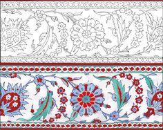 The Atik Valide Mosque bordure / Tube Photography Stencil Patterns, Pattern Art, Embroidery Patterns, Turkish Design, Turkish Art, Illumination Art, Islamic Art Pattern, Arabic Art, Hand Art