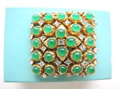 Vintage Ciner Brooch Ciner Jewelry Rhinestone Brooch by AllieEtCie