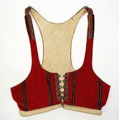 "''Nothing new under the sun""  a 19th century jogging bra  ----  PavL  ____________________________ Bodice, 19th century"