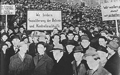 Ruhr miners peacefully protesting the French and Belgian occupation of the Ruhr.