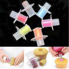 V1NF Hot Sale Kitchen Cake Core Remover Cake Cupcake Plunger Corer Decoration Kit Set
