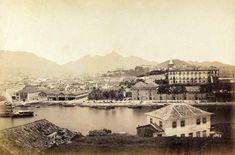 Arsenal da Marinha visto da Ilha das Cobras - Centro - Rio de Janeiro - década de 1860