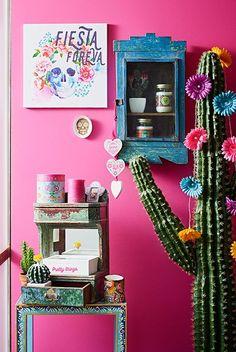 Pink paint color Primark primavera/verão 2016 Artigos para casa Fiesta mexicana