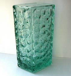 Large Sklo Union Hand Pressed Glass Vase Jiri Brabec for Rosice C1969 | eBay