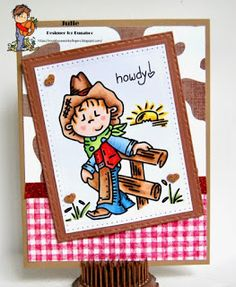 A Theme Challenge -Cowboys and Cowgirls Bugaboo, Cowboy And Cowgirl, Cowboys, Challenges, Play, Cards, Maps, Playing Cards