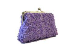 Check out this item in my Etsy shop https://www.etsy.com/listing/263535380/lavander-ruffled-wedding-pursebridal