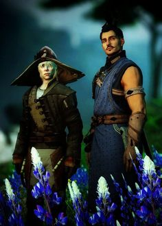 Cole & Dorian, Dragon Age: Inquisition.   my two boys! I love changing to these two. I feel like I'm taking care of them x)