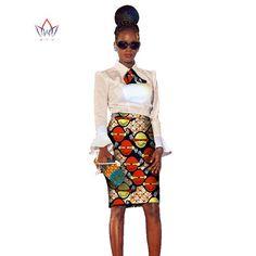 LADIES african dress Plus Size 2 Pieces African Print Dashiki Shirt Skirt Set 5xl-OWY459