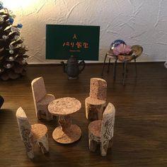 久しぶりのパリ食堂でのランチ、千葉大生の作品 #コルクアート