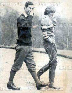 May 6, 1981: Prince Charles & his fiance, Lady Diana Spencer at Craigowan…