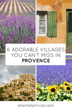 Travel to Provence in the South of France and see the most amazing hilltop villages and beautiful lavender fields, while having some of the most delicious food and wine on the planet! These 6 villages are picture perfect and my absolute favorites in Provence and the Luberon Valley.