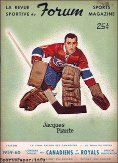 NHL Program: Montreal Canadiens (1959-60) Hockey Goalie, Hockey Games, Montreal Canadiens, History Of Hockey, Hockey Posters, Boston Bruins Hockey, Nhl Players, Sports Figures, National Hockey League