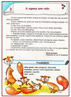 Texto para 4º ano: A raposa semrabo  |   Rérida Maria