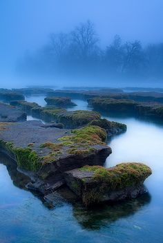 The Furrows - Foggy Sacramento River California by Stephen Oachs