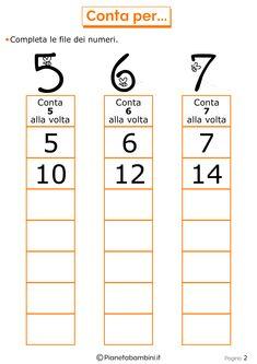 Qui trovate tanti giochi di matematica per bambini di 6-7 anni che frequentano la prima o la seconda elementare (primaria) da stampare gratis in PDF