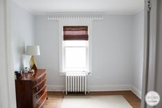 My Bedroom: Paint and a Plan. Wall color: Rock Candy, 6231 - Sherwin Williams. A very very pale blue.