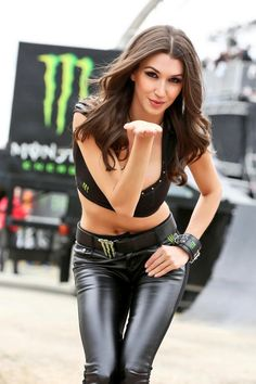 Monster in our minds Leather Tights, Monster Energy Girls, Pit Girls, Latex, Promo Girls, Umbrella Girl, Cute Woman, Leather Fashion, Leather Outfits
