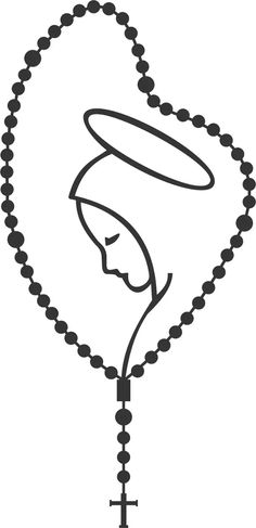 Rosary With Mary Vinyl Decal – Rebel rd auth Virgen Maria Tattoo, Tattoo Maria, Santas Tattoo, Rosary Drawing, Mother Mary Tattoos, Tattoo Mutter, Holy Rosary, Blessed Mother Mary, Wood Burning Patterns