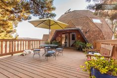 Geodesic dome in Lompoc, CA has a deck with panoramic views on five acres.