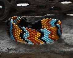 Free Form Peyote Stitch Beaded Bracelet by Cheri C Meyer, $42.00
