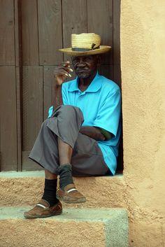 Morning Cigar - Trinidad, Cuba - I'm SURE I saw this man when we were in Trinidad.