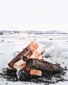 upknorth:  Winter priorities.                #getoutdoors #upknorth Cold days spent fireside. Awesome shot by @alexesav