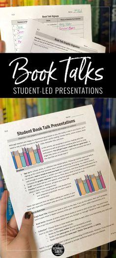Book Talks: Student-Led Presentation Project for ELA - Education 8th Grade Ela, 6th Grade Reading, Sixth Grade, Seventh Grade, Ela Classroom, English Classroom, Future Classroom, Classroom Organization, Middle School Books