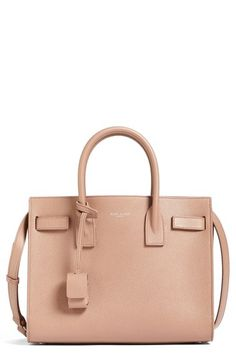 Saint Laurent  Baby Sac de Jour  Bonded Leather Tote  8bd77ee619c8d