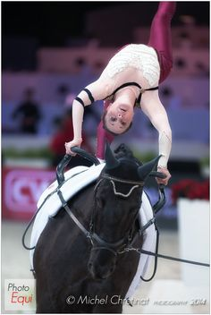 Photo : © Michel Chretinat - Photography 2013 - Equestrian Sports in Pictures Trick Riding, Dance Art, Vaulting, Michel, Photos, Pictures, World Cup, Gymnastics, Equestrian