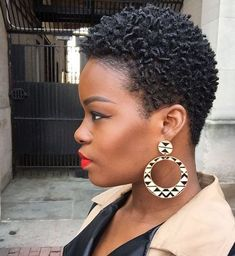 Big Afro hairstyles are basically the bigger and greater version of the Afro hairstyles. Afro which is sometimes shortened as 'FRO, is a hairstyle worn naturally outward by The African American black people. Coiling Natural Hair, Tapered Natural Hair Cut, Natural Hair Short Cuts, Short Natural Haircuts, Natural Afro Hairstyles, Natural Hair Twists, Cute Hairstyles For Short Hair, Short Hair Cuts, Natural Hair Styles