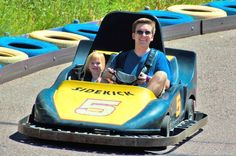 Adults Go Karts at Amusement Park at Heritage Square.  #Golden #CO #Attractions #Rides