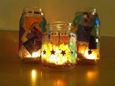 These cute little tea light lanterns would make great decorations for Diwali or Christmas celebrations, or simply for a cosy night in. Easy enough to be made by the little ones they also make great…