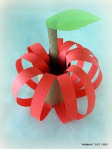 """כל זמן שחבשתי את ספסל הלימודים הפרישהבאתילבי""""ס היה תפוח. אמא שלי החזיקהבדעה שענבים נמעכים, שזיפים מלכלכים, ומבננה לא יצא שום דבר טוב,שיהיה. לכבודה ולכבוד עץ התפוח שיש לה בגינה, קבלו יצירה … Toilet Paper Roll Crafts, Paper Crafts For Kids, Easy Crafts For Kids, Diy For Kids, Diy And Crafts, Arts And Crafts, Simple Crafts, Craft Kids, Kids Fun"""