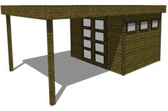Gartenhaus/Blockhütte Fonteyn Module 400 x 600