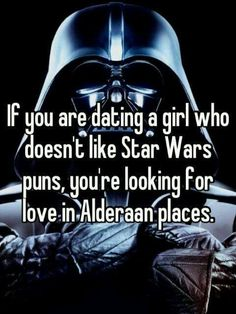 That's me, a star wars fanatic.