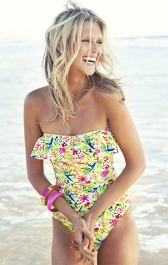 Adorable floral one-piece.