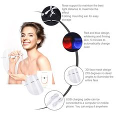 Acne Treatment >>> Facial Mask Beauty Face LED Light Skin Care Tool Boost Blood Circulation LED Light Facial Anti Wrinkle Massage Tool -- Go to the picture web link more information. (This is an affiliate link). Pimples Overnight, How To Get Rid Of Pimples, Massage Tools, 3d Face, Skin Care Tools, Light Skin, Facial Masks, Acne Treatment, Anti Wrinkle