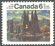 Canada 1970. Group of Seven. Realism/Naturalism. Arthur Lismer. Isle of Spruce.