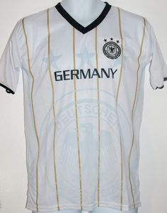 GERMANY SOCCER JERSEY T-SHIRT WHITE S SMALL FOOTBALL WORLD CUP DEUTSCHLAND #Drako #soccershirts #soccerjerseys #fifaworldcup #football #soccer #worldcup2014 #germany #fussball #deutschland