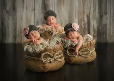 Bebe Charm Newborn Photography - Newborn Triplet Photography