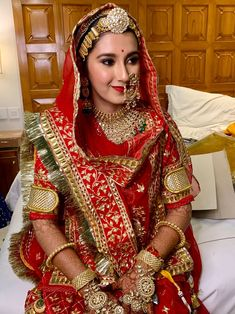 Asian Bridal Dresses, Indian Bridal Outfits, Indian Bridal Fashion, Indian Bridal Wear, Indian Fashion Dresses, Indian Designer Outfits, Rajasthani Bride, Rajasthani Dress, Rajput Jewellery
