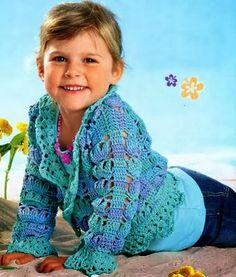 Golden crochet bolero for children All Free Crochet, Crochet Girls, Crochet Home, Crochet For Kids, Crochet Baby, Knit Crochet, Crochet Children, Girls Sweaters, Baby Sweaters