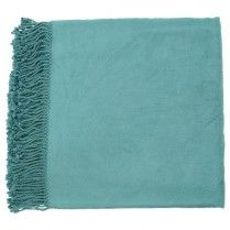 Tian Tian Teal Throw Blanket