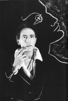 "Jean Cocteau - ""Of course I believe in luck. How else does one explain the successes of one's enemies? Man Ray, Herbert List, Creation Art, Jean Cocteau, Book Writer, Artist Life, Photo Series, Pablo Picasso, Oeuvre D'art"
